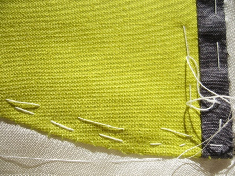 Uranus, details with basting stitches