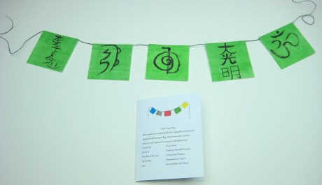 reiki green flag front